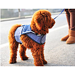 Blue Mixed Material T-Shirt For Dogs