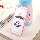 Beard  Pattern TPU Frame Translucent PC Hard And Lanyard Back Case for iPhone 6