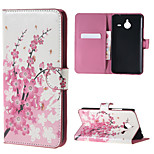 Plum Blossom Wallet Leather Stand Cover for Microsoft Lumia 640