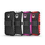 Heavy Tire Duty Defender Case with Stand TPU&PC Shockproof Protective Case for Moto G3
