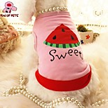 FUN OF PETS® Lovely Watermelon Pattern Cotton Vest  for Pets Dogs(Assorted Colors)