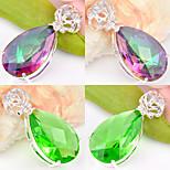 Fashion Forward Gift Drop Fire Green Quartz Mystic Topaz Gem 925 Silver Pendants for Necklaces For Wedding Party 1pc