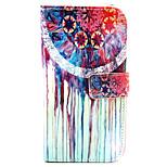 Coco design de moda fun® padrão de flor colorido da tampa do caso pu carteira de couro para Wiko lenny