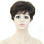 Women Short Straight Synthetic Hair Wigs Pixie Cut wig Black Hair
