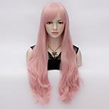 70cm Loita Long Body wavy Hair Cosplay Wig  Heat Resist Synthetic Party hair Pink