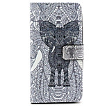 Fashion Design COCO FUN® Black Mammoth Pattern Wallet Slot Full Body PU Leather Case for LG G4