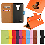 Genuine Leather Wallet Case for LG G4 (Assorted Colors)