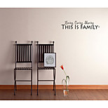 This Is Family Home Decorative Wall Stickers