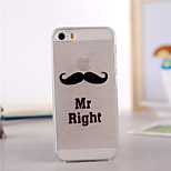 Beard Pattern TPU Soft Case for iPhone 5/5S