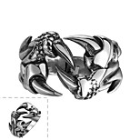 Classical Individual No Decorative Stone Men's Claws Stainless Steel  Ring(Black)(1Pc)