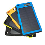5800mAh Mobile External Battery with Solar Charge for iphone Samsung and other Mobile Devices(Black/Blue/Yellow/Orange)
