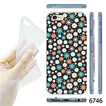 MAYCARI®Dots Painting Colth Pattern TPU Soft Transparent Back Case for iPhone 6