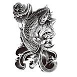 (1pcs) Temporary Armband Tattoo/Fish VS Water VS Flower/Waterproof Big Size Fake Tatoo Sticker Art/Armband,Shank,Belly