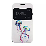 Jellyfish Pattern PU leather phone Case For Alcatel C7 /C5