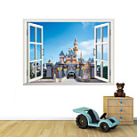 3D Wall Stickers Wall Decals Style Castle PVC Wall Stickers