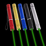LT - 5mw 532nm Visible Adjustable Beam Green Laser  Pen Flashlight - Black Red Blue Sliver Golden