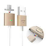 GODOSMITH Premium Detachable Magnetic Micro USB Double Metal Ports USB Charge Cables  for Samsung and other Android