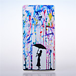 Paint Rain Pattern TPU Soft Cover Case for Huawei Ascend P8 Lite