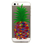 pineapple  Pattern TPU Relief Back Cover Case for iPhone 5/iPhone 5S