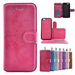 rots patroon pu materiaal split portemonnee geld telefoon Case voor iPhone 6 / 6s (diverse kleuren)