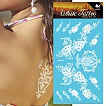 King Horse® India Henna Stickers Non Toxic/Hawaiian/Waterproof Flower Series Paper 5pcs 20.5*10cm