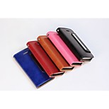 Smooth Oil-Leather Combo PU Leather Full Body Cases Cover with Card Slot and Stand for iPhone 5/5S