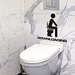 Man Down Loading Toilet Stickers