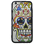 Colorful Cartoon Skull Pattern Transparent Silicone Rubber Edge Hard Back Case for iPhone 6/6S