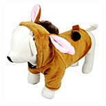 Cosplay Pet Clothese Brown Cosplay Cotton / Polar Fleece Hoodies For Dogs / Cats