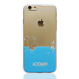 Moomin Blue Transparent TPU Soft Back Cover for iPhone 6 Plus/6S Plus