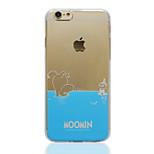 moomin blaues transparentes TPU weiche rückseitige Abdeckung für iphone 6 / 6S