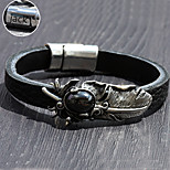 Personalized Gift Jewelry Stainless Steel/Leather plumage Engraved Bracelets