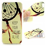 Dreamcatcher Words Phrase Pattern 0.6mm Ultra-Thin Soft Case for Apple iPhone 6 Plus/6S Plus
