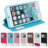 PU Open the Window Mobile phone Holster for iPhone6 Assorted Color
