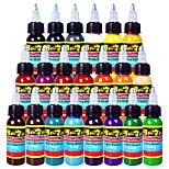 Solong Tattoo Inks 21 Colors Set 1oz 30ml/Bottle Tattoo Pigment Kit