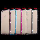 Drill Frame Transparent TPU Protective Sleeve Combo with Metal Cases for iPhone 5/5S(Assorted Colors)