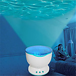 HRY® LED Night Light Projector Ocean Blue Sea Waves Projection Lamp With mini Speaker