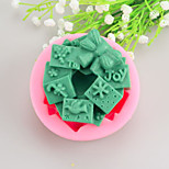 Christmas gift Shaped  Soap Molds Mooncake Mould Fondant Cake Chocolate Silicone Mold, Decoration Tools Bakeware