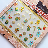 3D Gilding Christmas Series Gingerbread Man Nail Art Stickers