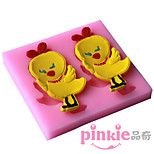 Two Chickens  Fondant Cake Cake Chocolate Silicone Molds,Decoration Tools Bakeware