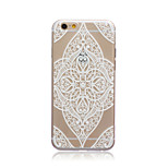 Love Flower Style Transparent Soft TPU Back Cover for iPhone 5C