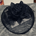 Large Black Hair Fascinators Hat for Party
