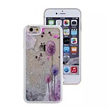 Silver Purple Dandelion Pattern PC Material Stereoscopic Stars Quicksand Phone Case for iPhone 6 / 6S