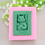 Stone Tablet Shaped Cat Soap Molds Mooncake Mould Fondant Cake Chocolate Silicone Mold, Decoration Tools Bakeware