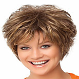 Fashion Brown Color Curly Woman's Synthetic Wigs Hair