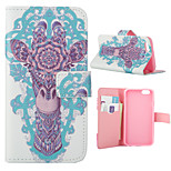 Special Design Coloured Drawing or Pattern Graphic Wallet Cases with Stand Full Body Cases for iPhone 6S Plus/6 Plus