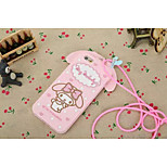 Silicone Material Bowknot is Cute Doll Style for iPhone 5/5S