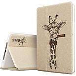 ESR Illustrators Series Folio Smart Case with Auto Wake Up/Sleep Function for iPad Air- Tycoon Giraffe