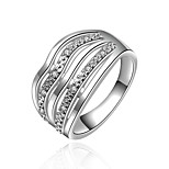 Women's Luxury Grandiloquent 925 Silver Plated Ring