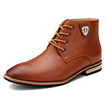 Men's Shoes Office & Career / Athletic / Casual Leather Boots Black / Brown / Gray